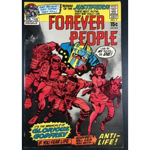 Forever People (1971) #3 FN/VF (7.0) Darkseid app Jack Kirby Story & Art