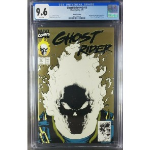 Ghost Rider #15 2nd print (1991) CGC 9.6 WP Glow-In-The-Dark Cover (3821185014) 