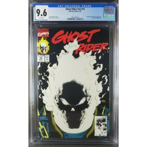 Ghost Rider #15 (1991) CGC 9.6 NM+ WP Glow-In-The-Dark Cover (3821185013)|