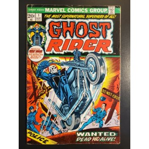 Ghost Rider #1 (1973) VG (4.0) 1st cameo appearance of Son of Satan|