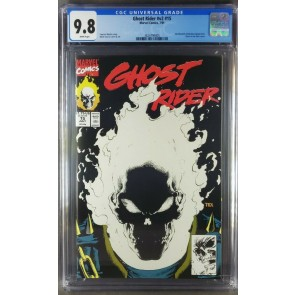 Ghost Rider #15 (1991) CGC 9.8 NM/M WP Glow-In-The-Dark Cover (3824799005) 
