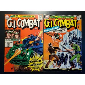 G.I. Combat #116 & 117 (1966) F+ F/VF 12c Silver Haunted Tank! Joe Kubert art |