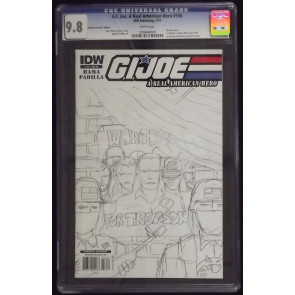G.I. JOE #156 REGULAR & SKETCH VARIANT COVERS CGC GRADED 9.8 WHITE PAGES IDW