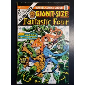 GIANT SIZE FANTASTIC FOUR #4 (1975) FINE (6.0) HIGHER GRADE 1ST JAMIE MADROX|