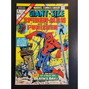 Giant-Size Spider-Man #4 (1975) FN/VF 4th app Punisher 1st Moses Magnum|