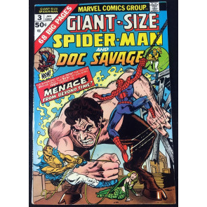 Giant-Size Spider-Man (1975) #3 FN/VF (7.0) guest starring Doc Savage
