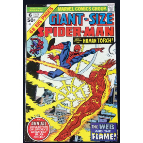 Giant-Size Spider-Man (1975) #6 FN/VF (7.0) guest starring Human Torch