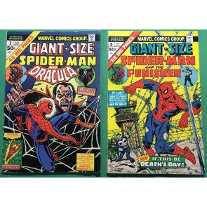 Giant-Size Spider-Man (1974) 1 2 3 4 5 6 FN (6.0) complete set 3rd app Punisher