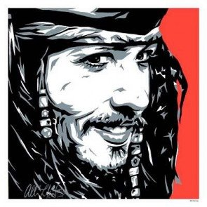GICLEE ON PAPER CAPTAIN JACK SPARROW PIRATES OF THE CARIBBEAN LITHOGRAPH DISNEY