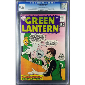 Green Lantern (1960) #11 CGC 9.6 (NM+) 2nd highest only 1 in 9.8 (1038883012)