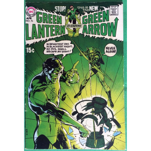 Green Lantern (1960) #76 with Green Arrow FN- (5.5) classic Neal Adams