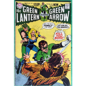 Green Lantern (1960) #78 with Green Arrow VF- (7.5) classic Adams & O'Neil
