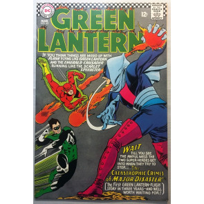 Green Lantern (1960) #43 FN (6.0) Flash Team Up and cover