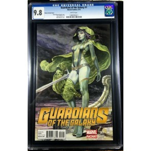 Guardians of the Galaxy (2013) #1 CGC 9.8 Milo Manara variant cover (109978311)