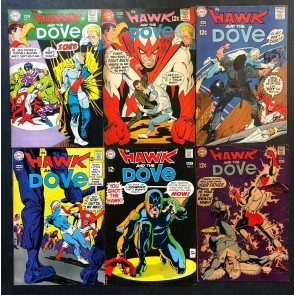 Hawk and the Dove (1968) #1 2 3 4 5 6 FN (6.0) complete set Steve Ditko