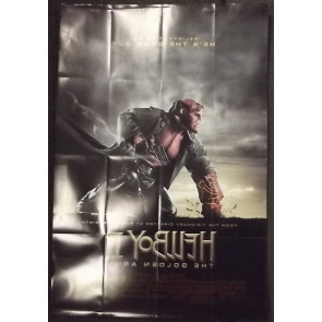 HELLBOY II DOUBLE SIDED MOVIE POSTER MIKE MIGNOLA RON PEARLMAN