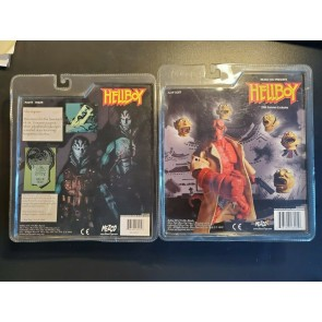 HELLBOY WITH FLOATING HEADS ABE SAPIEN Rare SDCC Mezco 2006/2007 SET OF 2 NIB |