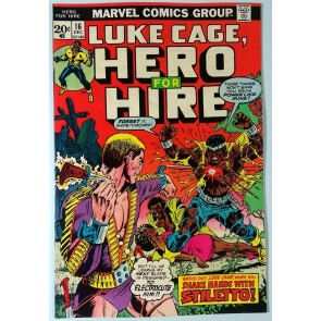 Hero for Hire (1972) #16 VF- (7.5) Luke Cage Power Man - Stiletto Origin