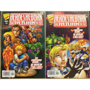 HEROES REBORN THE RETURN COMPLETE 4 ISSUE SET LOT OF 7