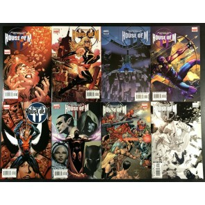 House of M (2005) #1 2 3 4 5 6 7 8 VF/NM (9.0) complete variant set 1st prints