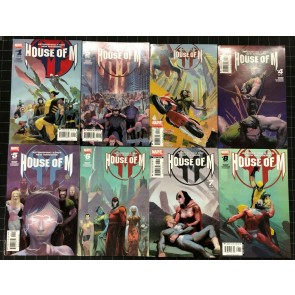 House of M (2005) #1 2 3 4 5 6 7 8 FN/VF (7.0) complete set 1st prints