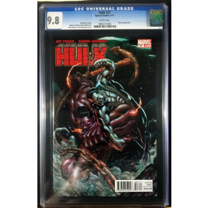Hulk (2008) #27 CGC 9.8 Red Hulk vs Sub-Mariner battle cover (0992213006)
