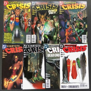 Identity Crisis (2004) #'s 1 2 3 4 5 6 7 Complete Michael Turner Cover Set