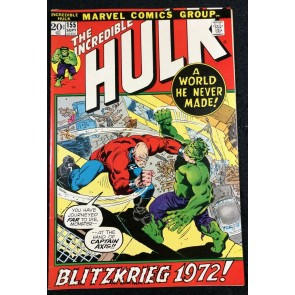 Incredible Hulk (1968) #155 VF- (7.5) vs Captain Axis 1st app Shaper OF Worlds