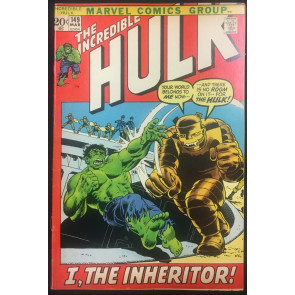 Incredible Hulk (1968) #149 FN/VF (7.0) 1st app Inheritor