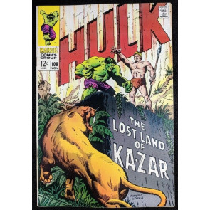 Incredible Hulk (1968) #109 VF+ (8.5) Ka-Zar story  part 1 of 2