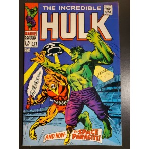 Incredible Hulk #103 (1969) F/VF (7.0) 1st Space Parasite Stan Lee / Severin |