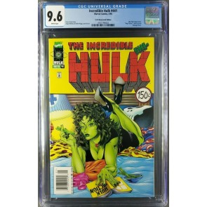 INCREDIBLE HULK 441 CGC 9.6 WHITE SHE-HULK PULP FICTION NEWSSTAND UPC VARIANT|