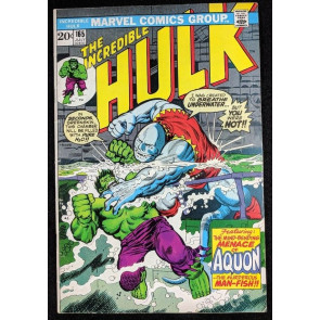 Incredible Hulk (1968) #165 FN+ (6.5)  1st app Aquon