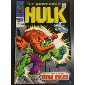 Incredible Hulk #106 (1968) F (6.0) |
