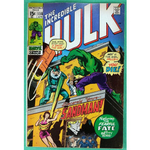 Incredible Hulk (1968) #138 FN+ (6.5) vs Sandman