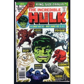 Incredible Hulk (1968) Annual #5 VF- (7.5) 2nd app Groot