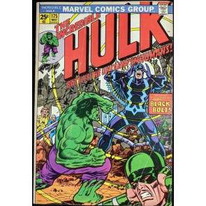 Incredible Hulk (1968) #175 VG (4.0) Black Bolt Inhumans cover & story