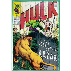 Incredible Hulk (1968) #109 VG/FN (5.0) Ka-Zar appearance