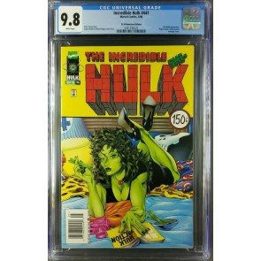 INCREDIBLE HULK 441 CGC 9.8 WP SHE-HULK PULP FICTION NEWSSTAND UPC ONLY 3 EXIST|