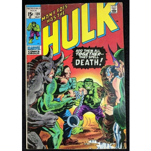 Incredible Hulk (1968) #139 VG+ (4.5) Rogues Gallery cover