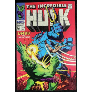 Incredible Hulk (1968) #110 VF+ (8.5) Ka-Zar story  part 2 of 2