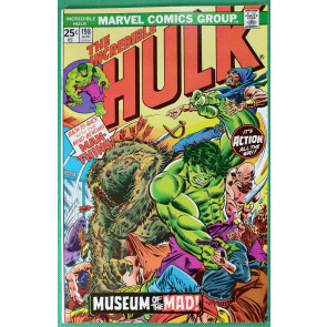 Incredible Hulk (1968) #198 NM (9.4) side by side with Man-Thing