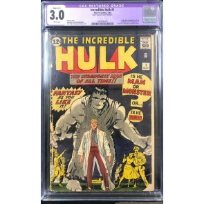 Incredible Hulk (1962) #1 CGC App 3.0 white pages origin & 1st app (2063592001)