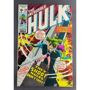 Incredible Hulk (1968) #142 FN/VF (7.0) 1st Appearance Valkyrie Herb Trimpe Art