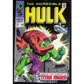 Incredible Hulk (1968) #106 FN+ (6.5) vs Missing Link