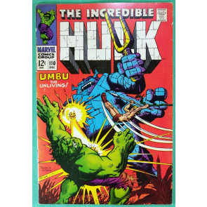 Incredible Hulk (1968) #110 FN (6.0) Ka-Zar appearance