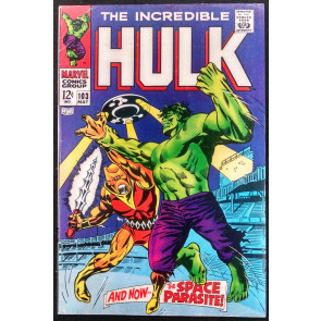 INCREDIBLE HULK #103 FN