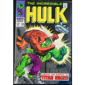 INCREDIBLE HULK #106 FN-