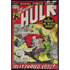 INCREDIBLE HULK #155 VF- 1ST APPEARANCE SHAPER