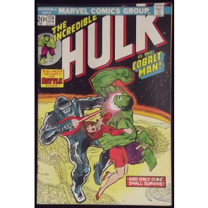 INCREDIBLE HULK #174 VF+ COBALT MAN